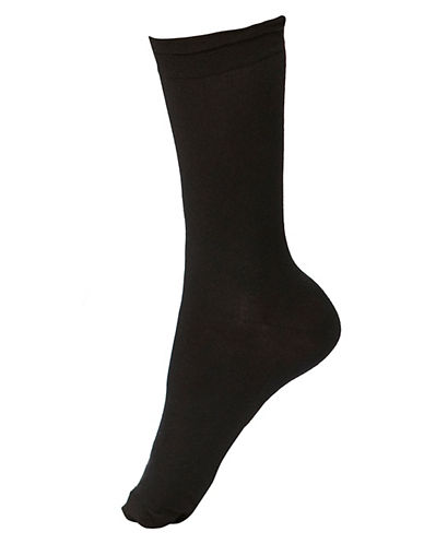 Hue Femme Top Sock-BLACK-One Size