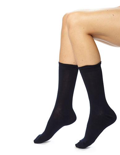Hue Femme Top Sock-BLUE-One Size