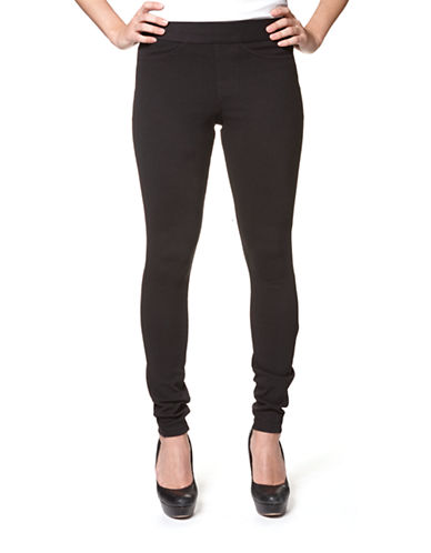 Hue Curvy Fit Jeggings-BLACK-Small
