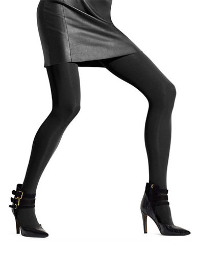 Hue Seamless Opaque Tights-BLACK-1