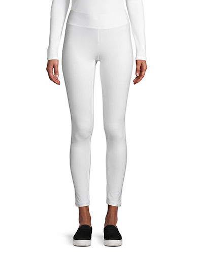 Hue Wide-Waist Ultra Skimmer Leggings-WHITE-Small