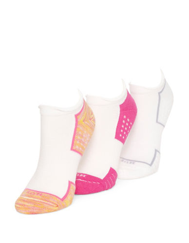 Hue Three-Pack Air Cushion No Show 3D Sole Ankle Socks-PINK-One Size 88244178_PINK_One Size
