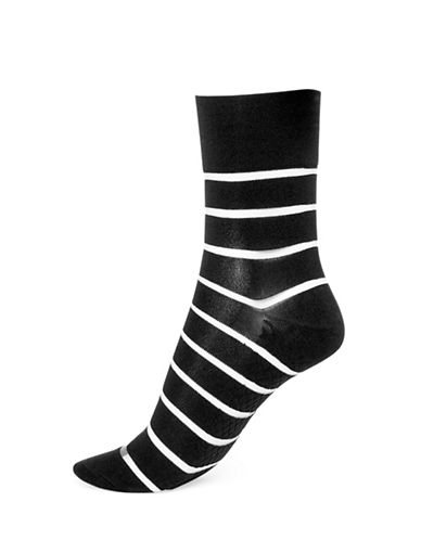 Hue Sheer Stripe Pixie Socks-BLACK-One Size 88224568_BLACK_One Size