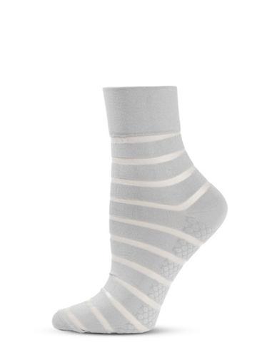 Hue Sheer Stripe Pixie Socks-GREY-One Size 88224570_GREY_One Size