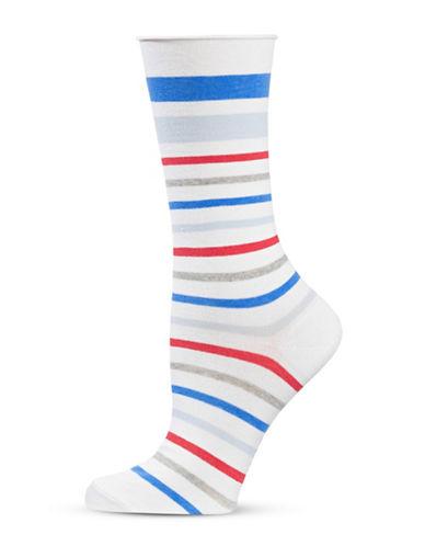 Hue Jean Socks-WHITE MULTI-One Size