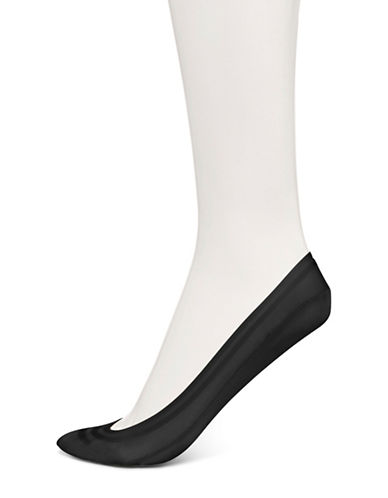 Hue Classic Silicone Edge Sockliners-BLACK-One Size