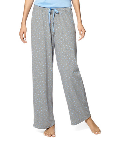 Hue Scribble Heart Pyjama Pants-BLUE-Large