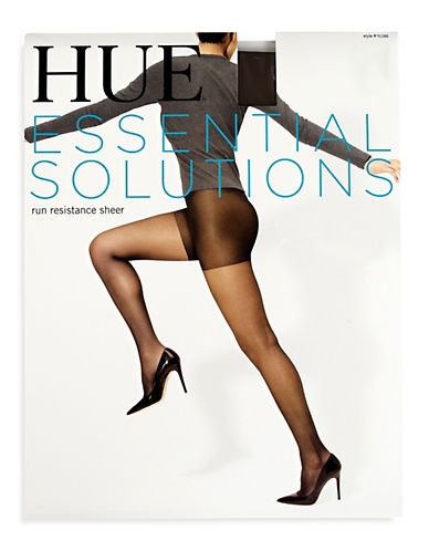 Hue Run Resistance Sheer Tights-BLACK-1