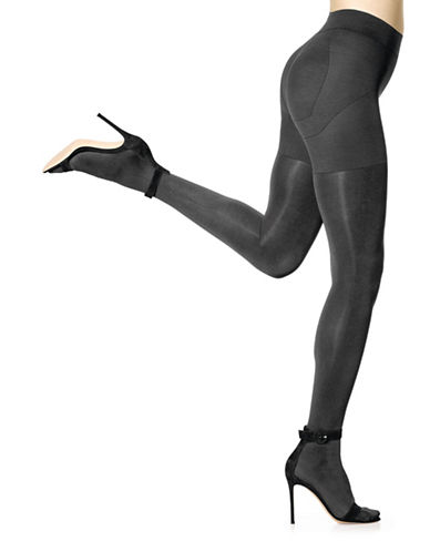 Hue Matte Opaque Shaping Tights-DARK GREY-2