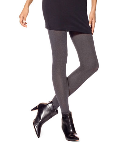 Hue Seamless Opaque Tights-GREY-1