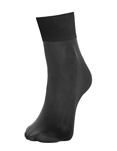 Hue Skinny Ankle Socks-BLACK-One Size