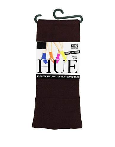 Hue Skinny Ankle Socks-BROWN-One Size