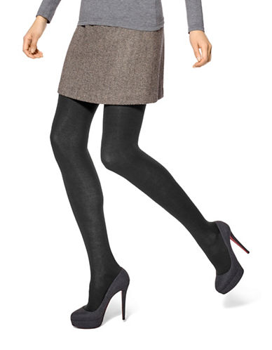 Hue Flat Knit Sweater Tights-BLACK-Small/Medium plus size,  plus size fashion plus size appare