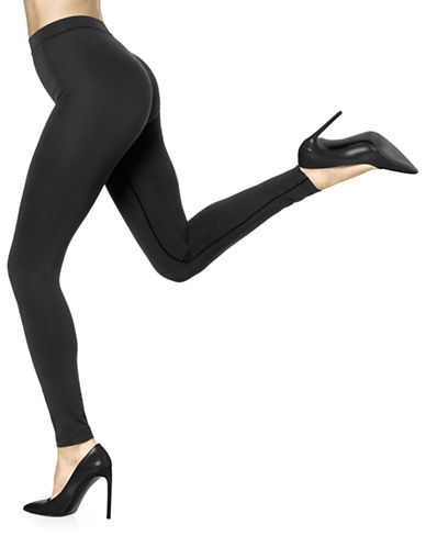 Hue Made to Move Shaping Leggings-BLACK-Small