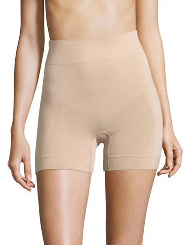 Hue Seamless Shaping Shorts-BEIGE-XX-Large