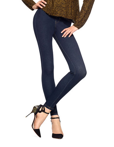 Hue Curvy High-Waisted Denim Leggings-BLUE-XX-Large