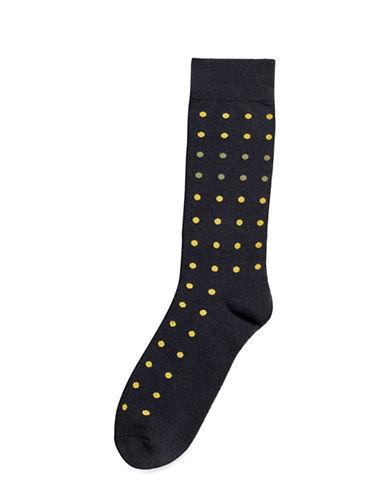 Hue Mini Dot Socks-DARK GRAPHITE HEATHER-One Size