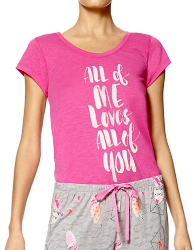 Hue All of Me Short Sleeve Tee-PINK-Large 88873049_PINK_Large
