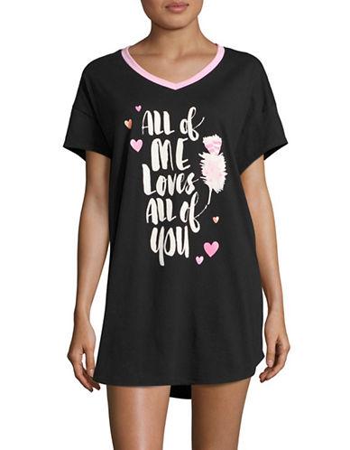 Hue All of Me Sleep Shirt-BLACK-Small