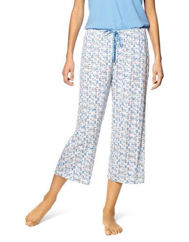 Hue Icy Margarita Capri Pyjama Pants-WHITE-Large 89725417_WHITE_Large