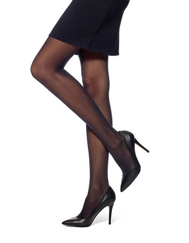 Hue Flat-Tering Fit Opaque Tights-BLACK-1