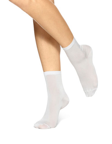 Hue Ultra Fine Anklet Socks-WHITE-One Size 88939026_WHITE_One Size