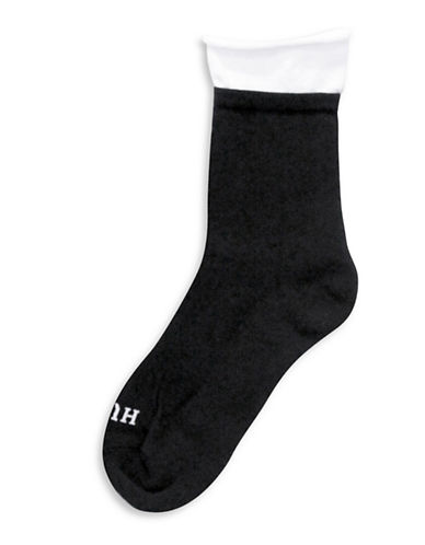 Hue Sleek Comfort Cushioned Socks-BLACK-One Size 88939021_BLACK_One Size