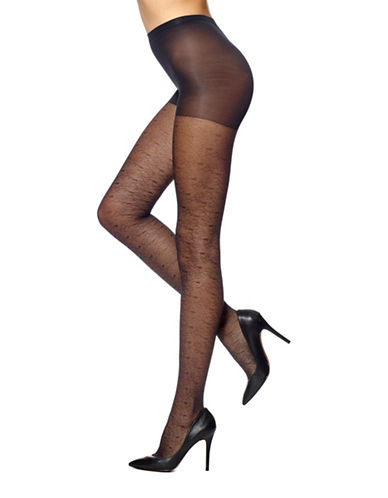 Hue Climbing Vine Sheer Tights with Control Top-BLACK-2