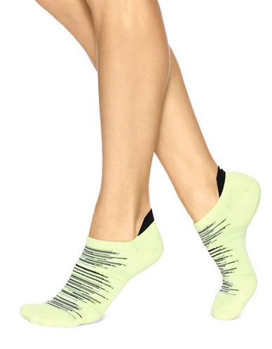 Hue Three-Pack Air Sleek Tab Back Liner Cushion Socks-YELLOW-One Size 89018493_YELLOW_One Size