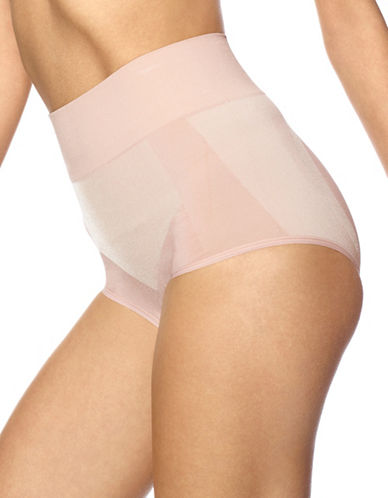 Hue Seamless Shaping Panties-BEIGE-Large