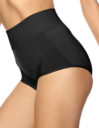 Hue Seamless Shaping Panties-BLACK-X-Large