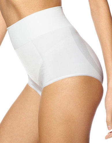 Hue Seamless Shaping Panties-WHITE-Medium
