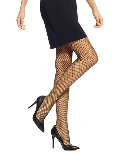 Hue Petite Fishnet Tights-BLACK-Small/Medium