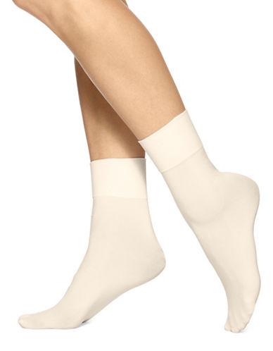Hue Skinny Ankle Socks-BEIGE-One Size