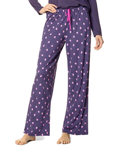 Hue Berrylicious Strawberry-Print Pyjama Pants-PURPLE-Small