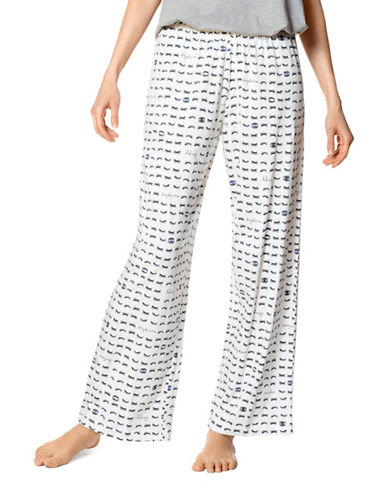 Hue Lashes Pajama Pants-NATURAL-Medium