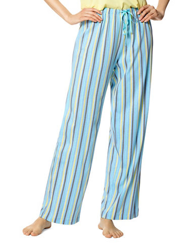 Hue Striped Pyjama Pants-BLUE-Small