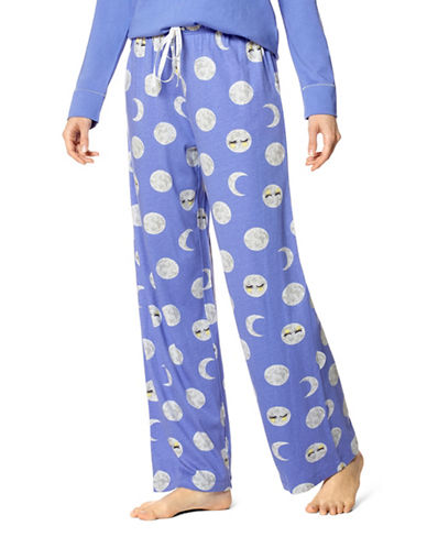 Hue Nighty Night Moon Pajama Pants-BLUE-Large