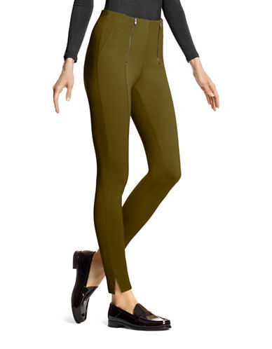 Hue Simply Stretch Skimmer Leggings-GREEN-Medium