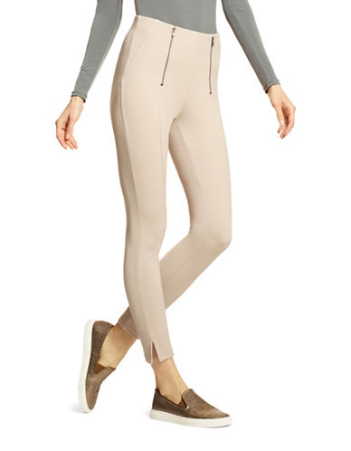 Hue Simply Stretch Skimmer Leggings-BEIGE-Large