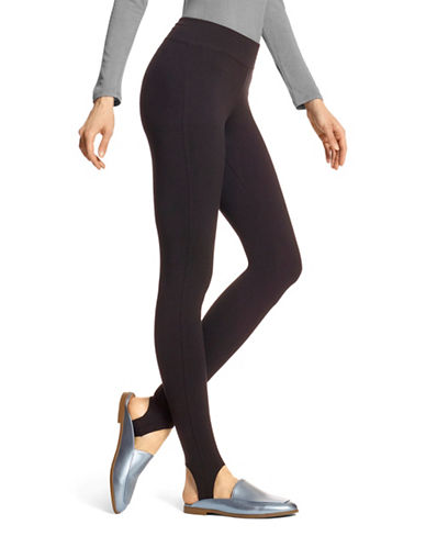 Hue Basic Stirrup Leggings-BLACK-Large