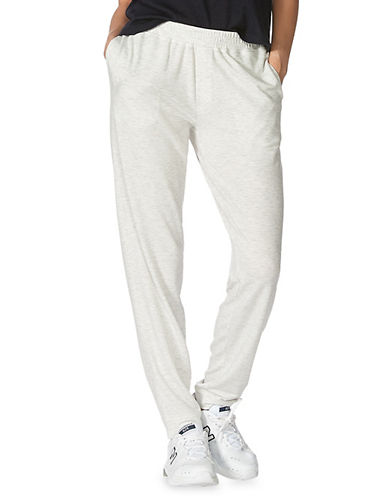Hue Cuffed Jogger Pants-BEIGE-Small