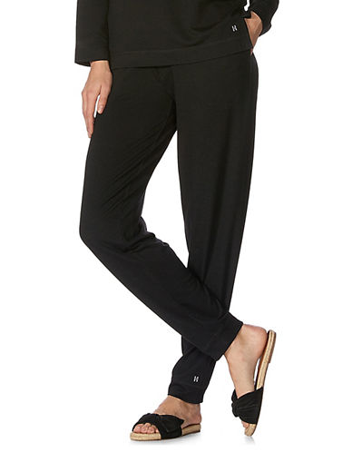 Hue Cuffed Jogger Pants-BLACK-Small