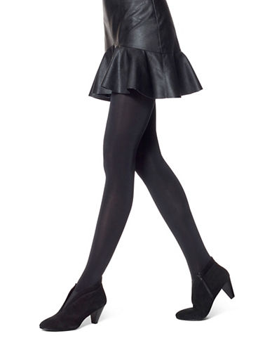 Hue Satin Tights-BLACK-Small/Medium