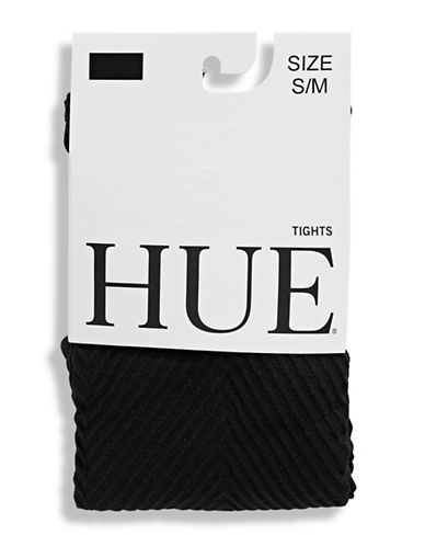 Hue Chevron Tights-BLACK-Small/Medium
