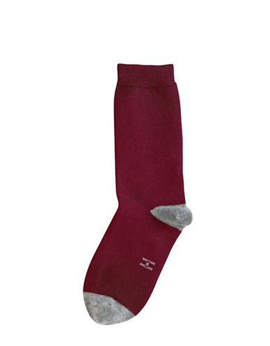 Hue Casual Crew Sock-PINK-One Size