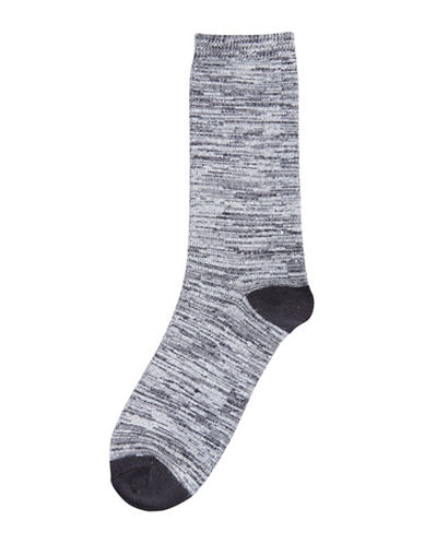 Hue Womens Super Soft Crew Socks-BLACK DYE-One Size