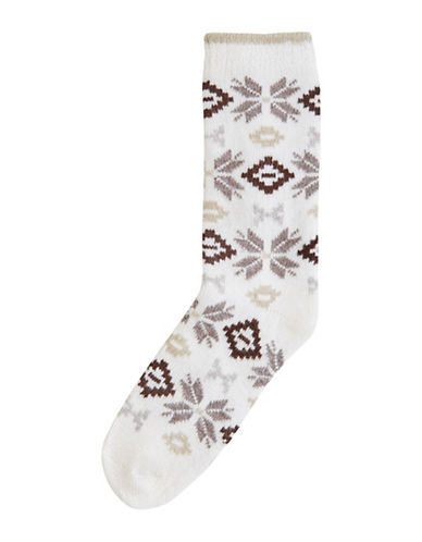 Hue Nordic Fairisle Boot Socks-IVORY-One Size