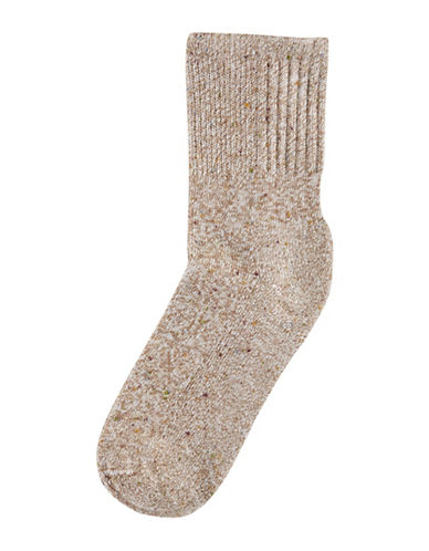 Hue Shortie Tweed Cowgirl Boot Socks-ESPRESSO-One Size