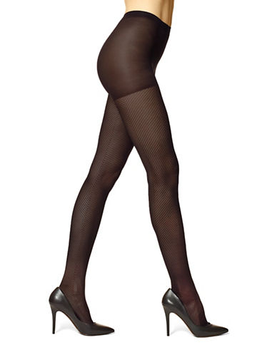 Hue Herringbone Sheer Tights-BLACK-3